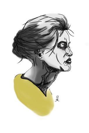 Hoved med gul krave © KirstenKKester.com | Kirsten K. Kester