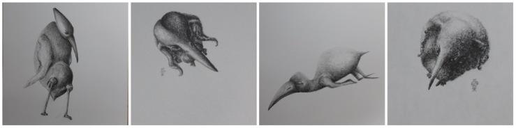 My artworks from the exhibition at Herlev Kunstforening © KirstenKKester.com | Kirsten K. Kester