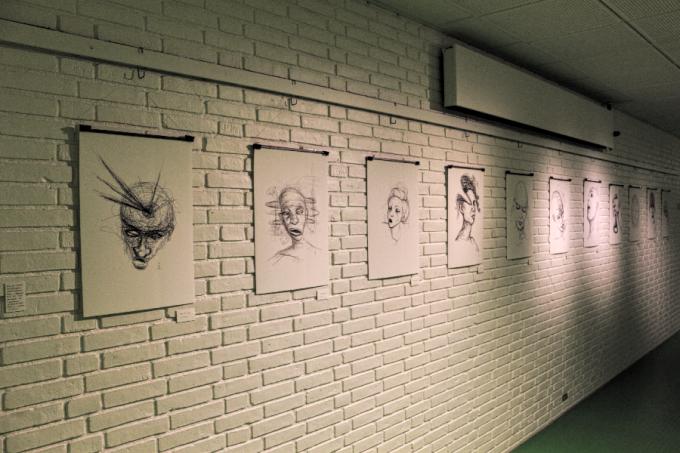 My artworks ifrom the exhibition at Herlev Kunstforening © KirstenKKester.com | Kirsten K. Kester