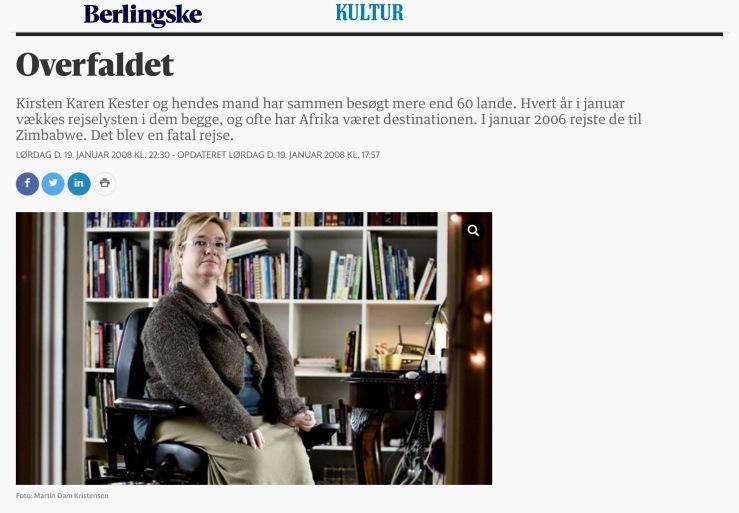 Artikel i Berlingske Tidende © KirstenKKester.com | Kirsten K. Kester