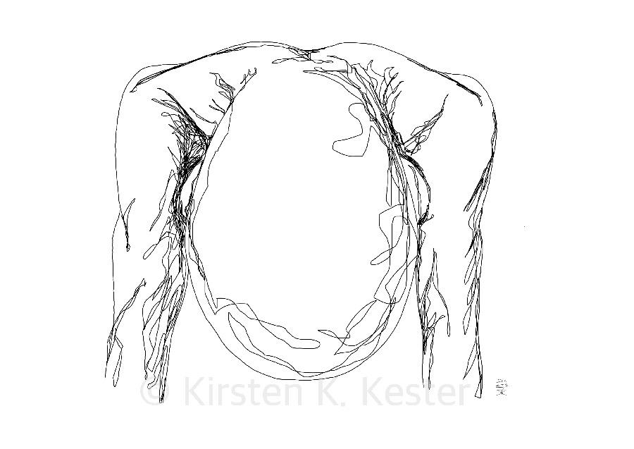 Udmattet - kunst fra K © KirstenKKester.com   Kirsten K. Kester