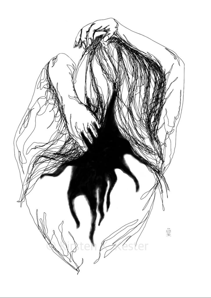Illustration, Viser rygrad af Kirsten K Kester © KirstenKKester.com   Kirsten K. Kester