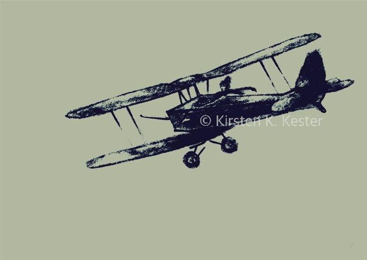 Min flyver II, Kunst fra K © KirstenKKester.com   Kirsten K. Kester