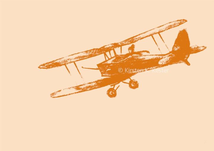 Min flyver V, Kunst fra K © KirstenKKester.com | Kirsten K. Kester