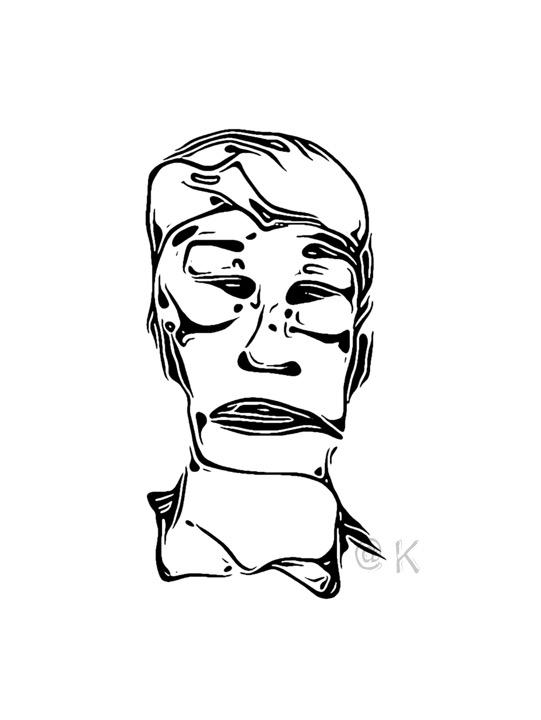 Ulige ansigter 08 v. Kunst att: K @ Kirsten K Kester | kirstenkkester.com