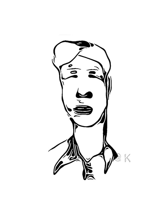 Ulige ansigter 03 v. Kunst att: K @ Kirsten K Kester | kirstenkkester.com