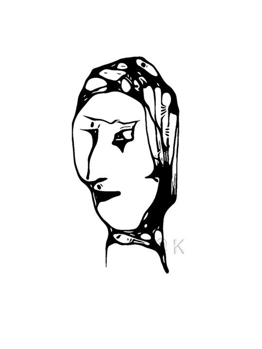 Ulige ansigter 01 v. Kunst att: K @ Kirsten K Kester | kirstenkkester.com