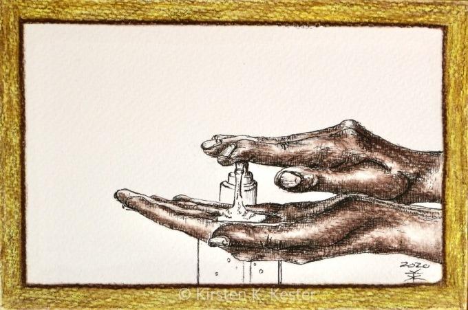 Artmoney - The hand sanitizer (2020-022) © KirstenKKester.com | Kirsten K. Kester